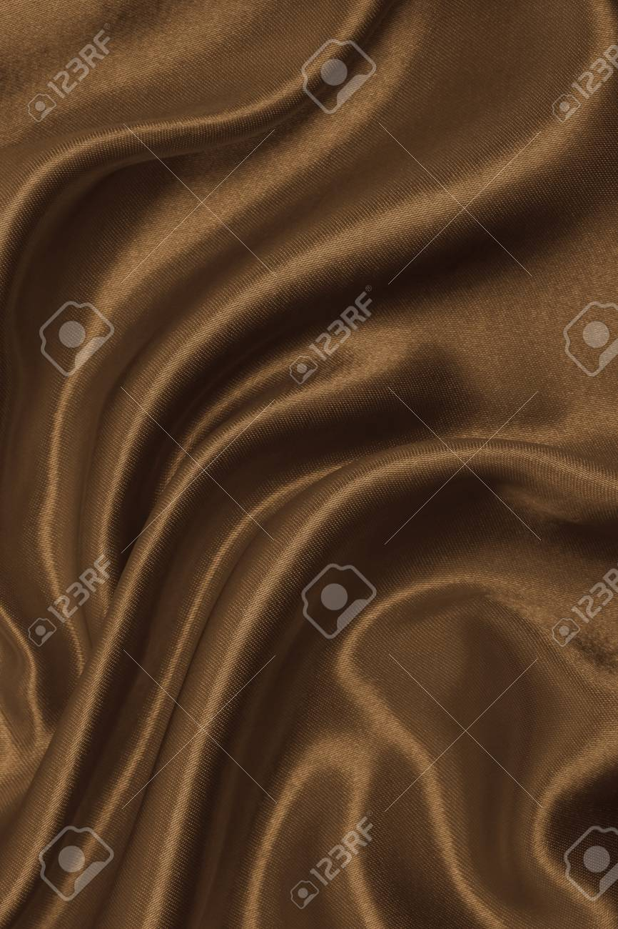 Smooth Elegant Brown Silk Or Satin Texture Can Use As Abstract Background Luxurious Design