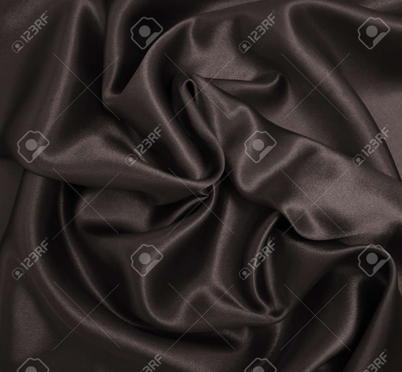Smooth elegant brown silk or satin texture can use as abstract background. Luxurious background design. In Sepia toned. Retro style - 150863526