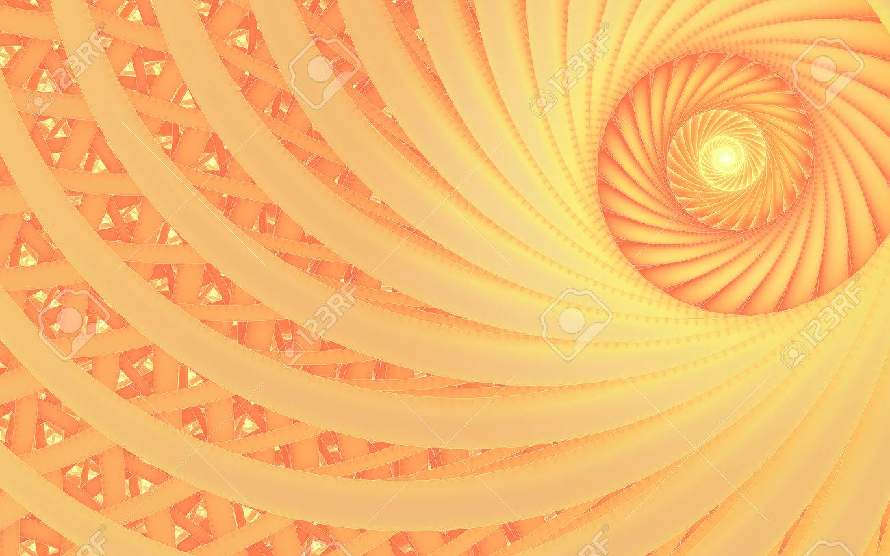abstract fantasy swirl tunnel fractal with peach lines cover