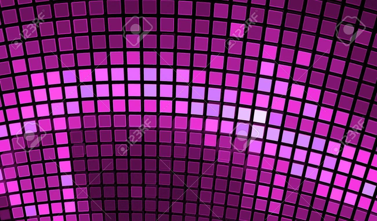 Abstract Mozaïek Achtergrond. Heldere Violette Disco Mozaïek ...