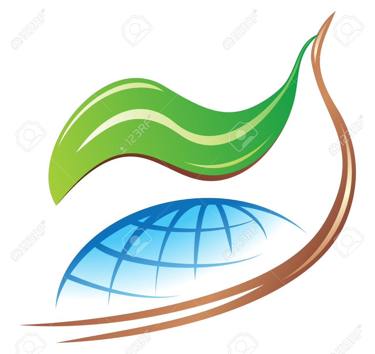 Save earth logo Stock Vector - 3298408