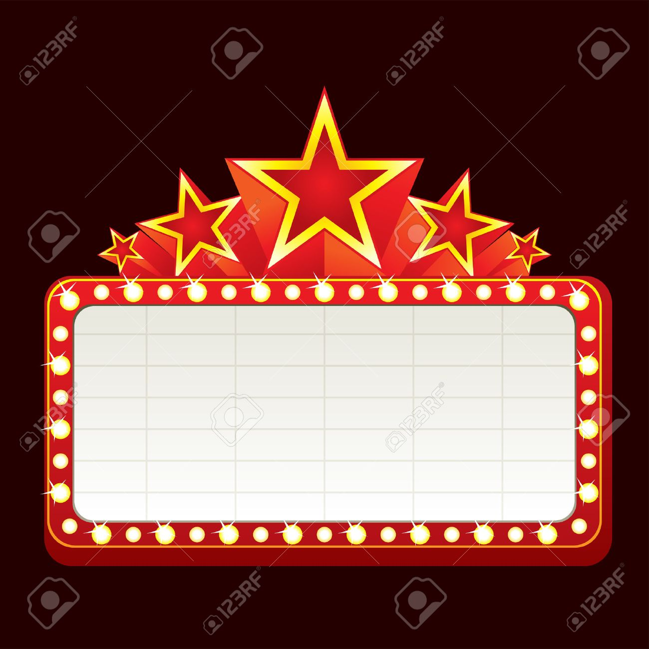 Broadway Lights Border Clipart sign for cinema    clipart
