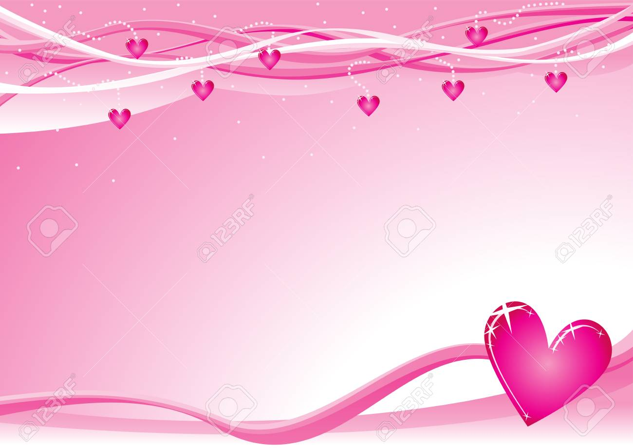 Lovely Background With Hearts For Valentine Day Royalty Free