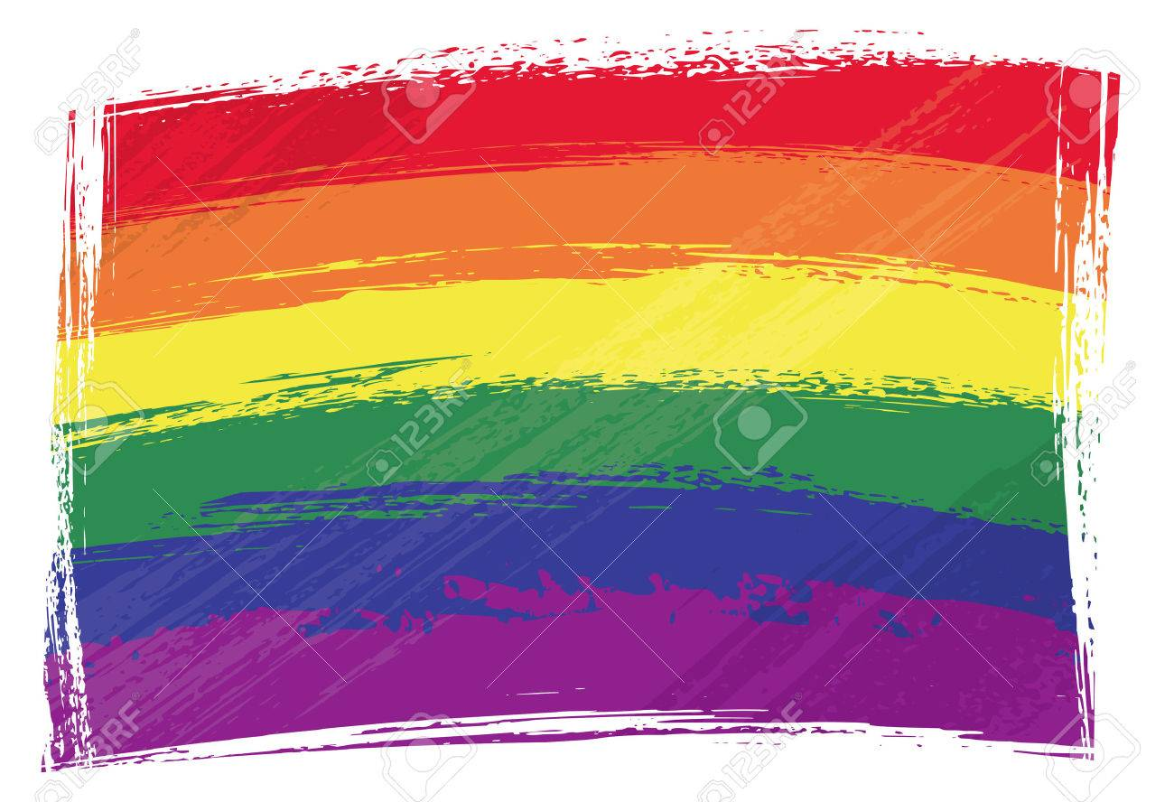 Gay pride flag created in grunge style Stock Vector - 6051570