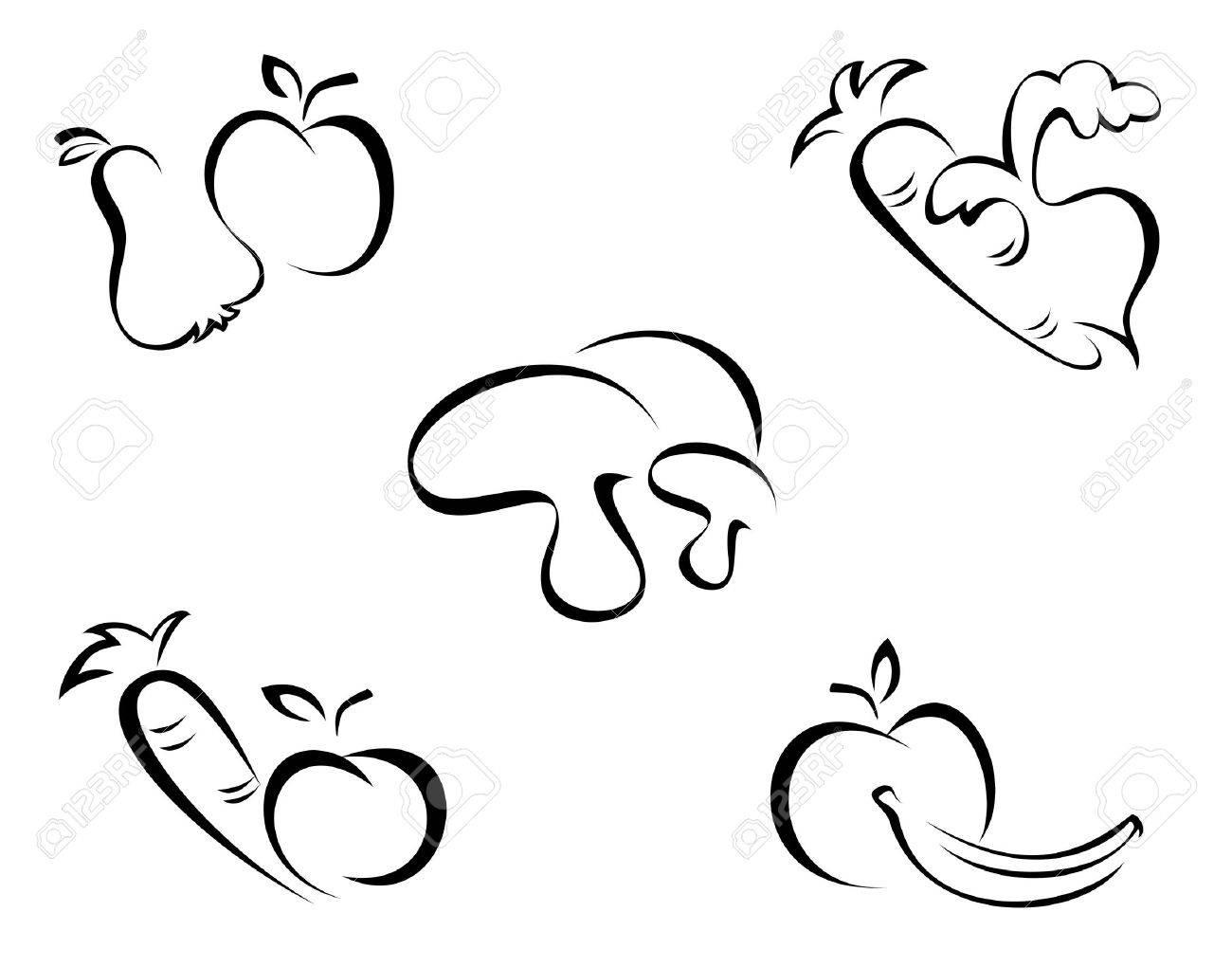 Vegetables symbols Stock Vector - 6350883