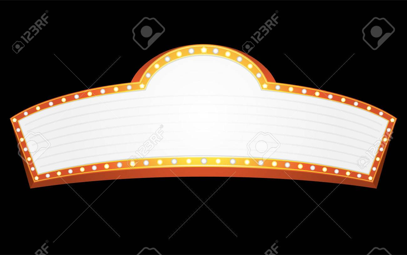 Big gold banner for cinema, theater or circus Stock Vector - 6445297