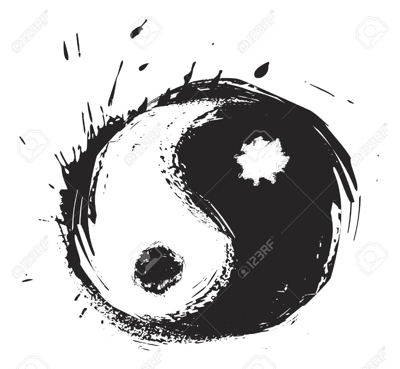 Artistic yin-yang symbol Stock Vector - 6663423