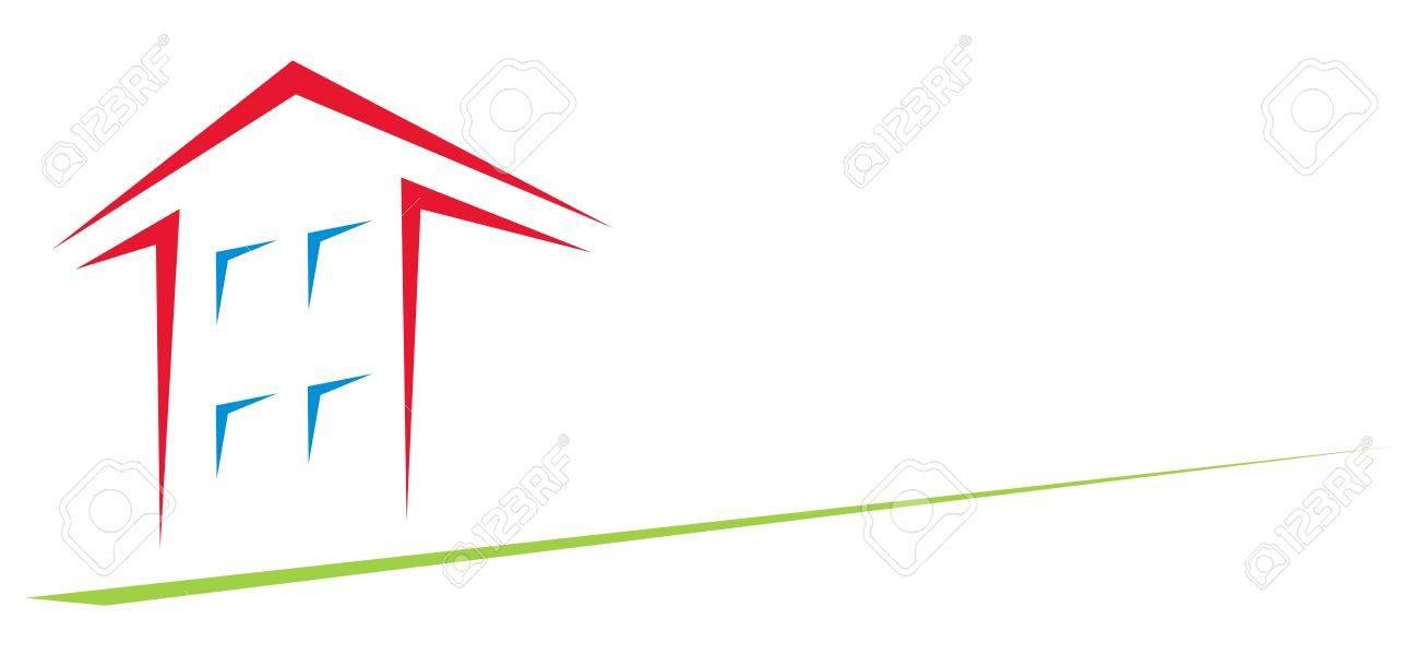 矢印の形状で作成された家のクリップアートのイラスト素材ベクタ