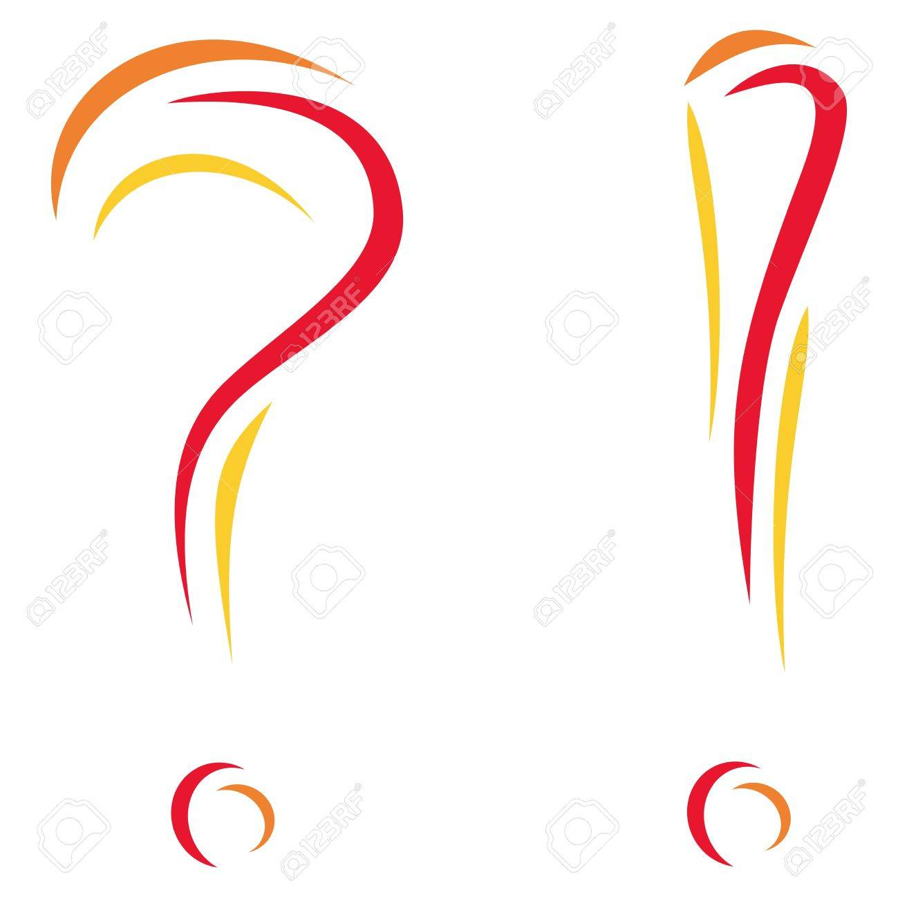 Question and interjection Stock Vector - 9913311