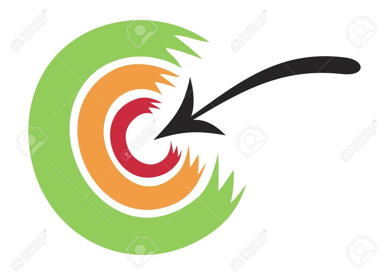 Concept of illustration of arrow hitting in the target Stock Vector - 10830129