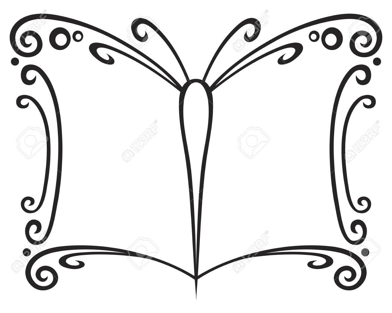 Symbol of book created of butterfly wings Stock Vector - 11112561