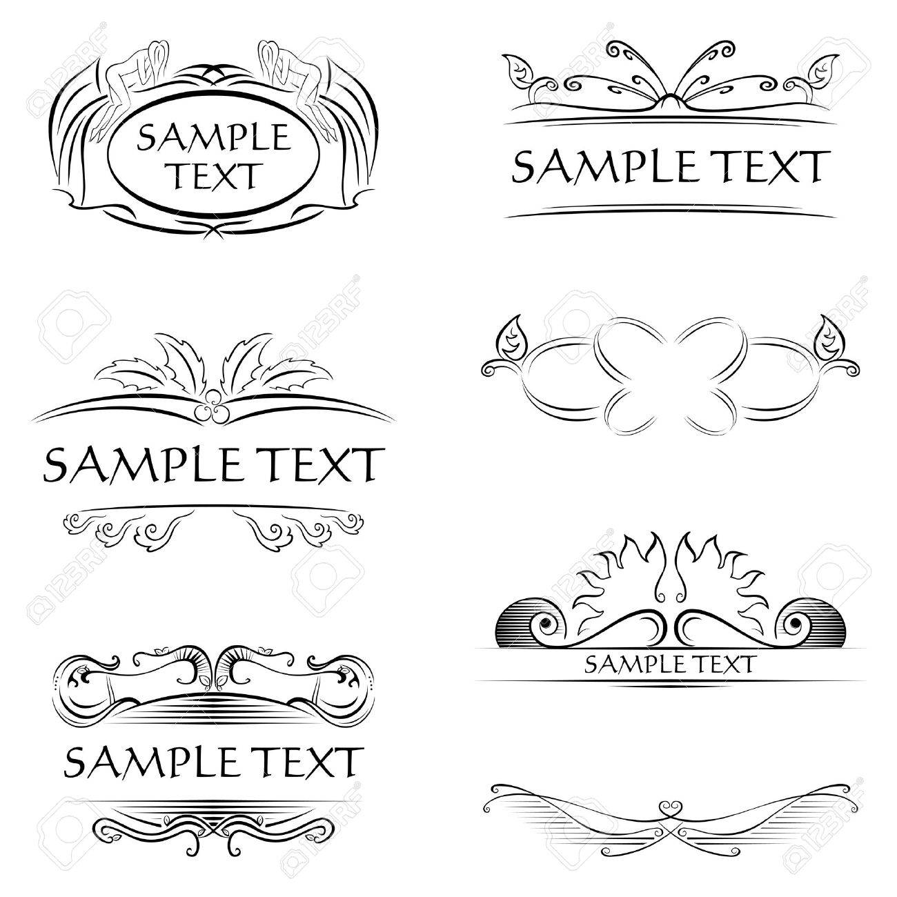Decorations and frames Stock Vector - 15028191