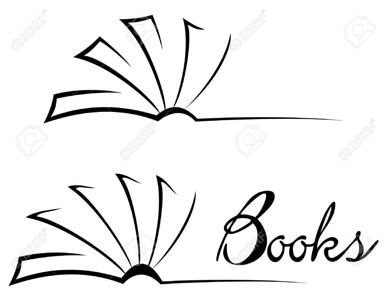 Open Book Line Drawing Book symbol  book  logo  open