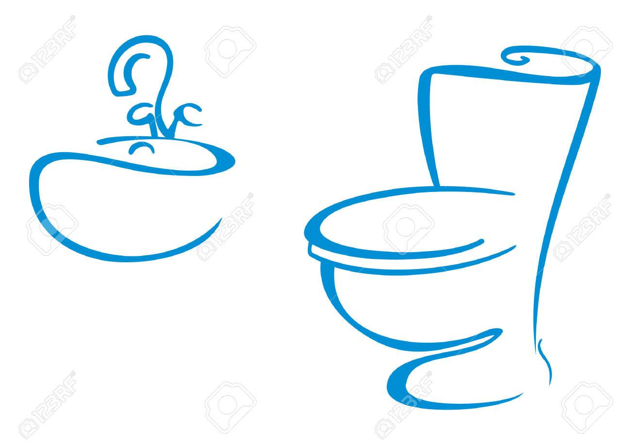 Clean bathroom sink clip art - Clean Toilet Bathroom Symbols