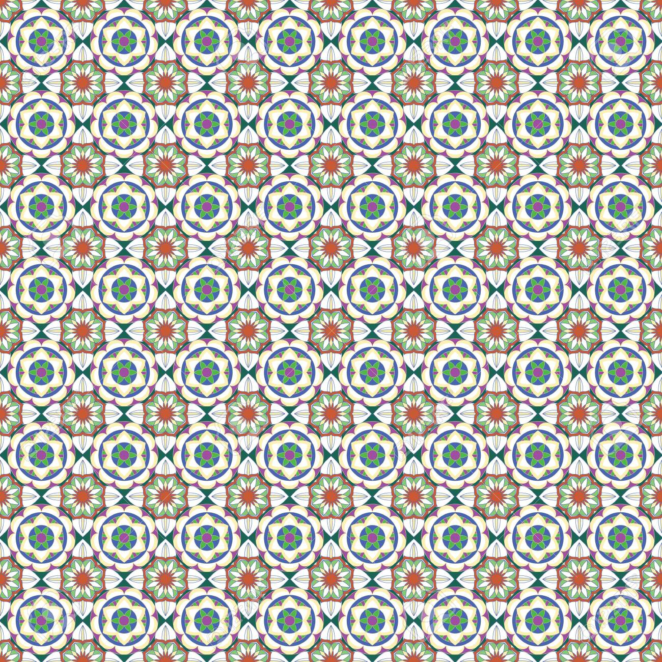Seamless Ornate Pattern With Mandala Elements In Shades Of Orange Stock Photo Picture And Royalty Free Image Image 127177037
