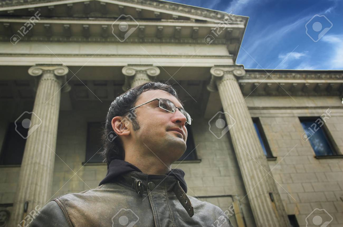 Portrait of the man on a background of a building Stock Photo - 2251024