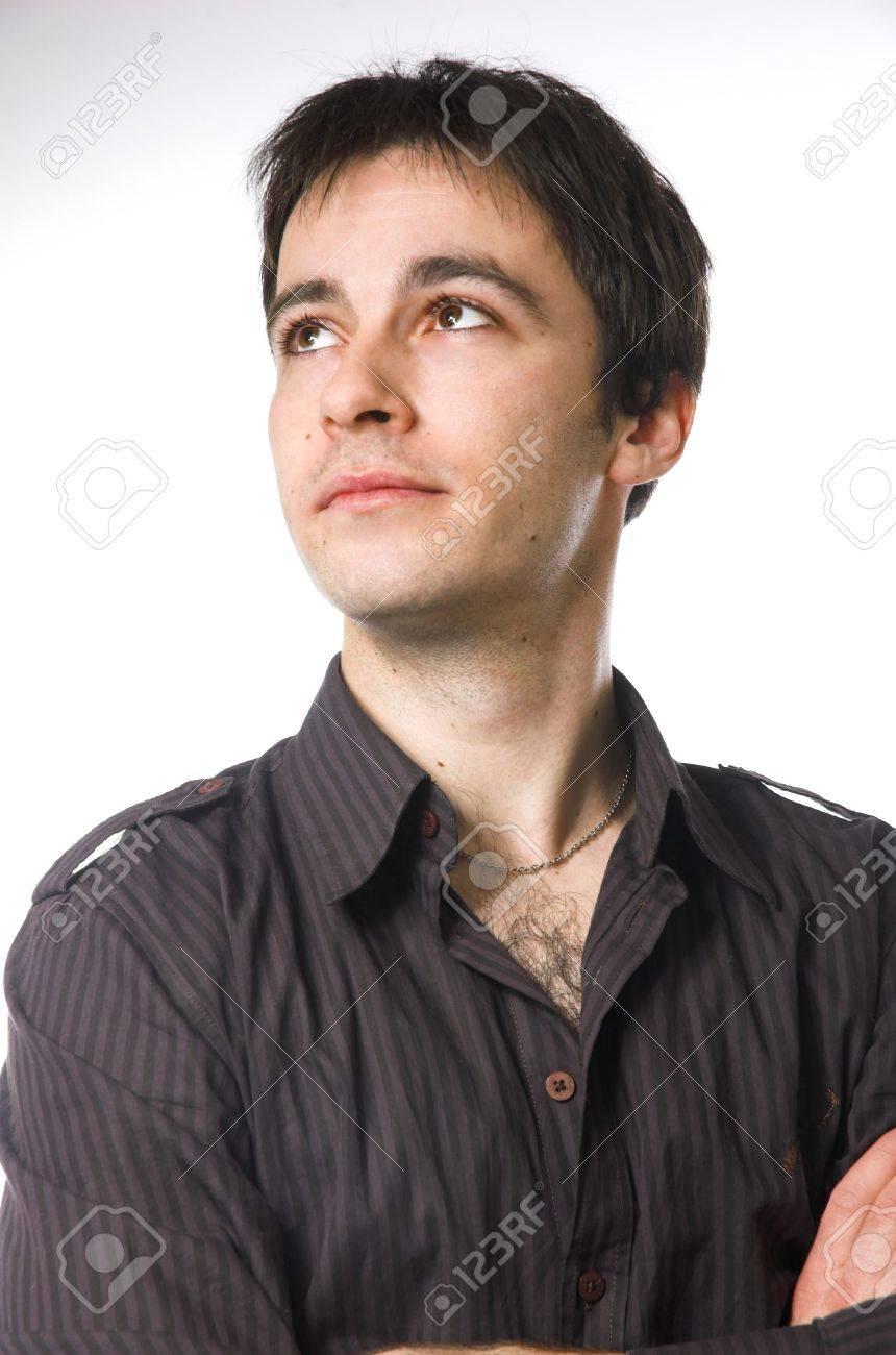 Portrait of the man looking upwards Stock Photo - 2470731