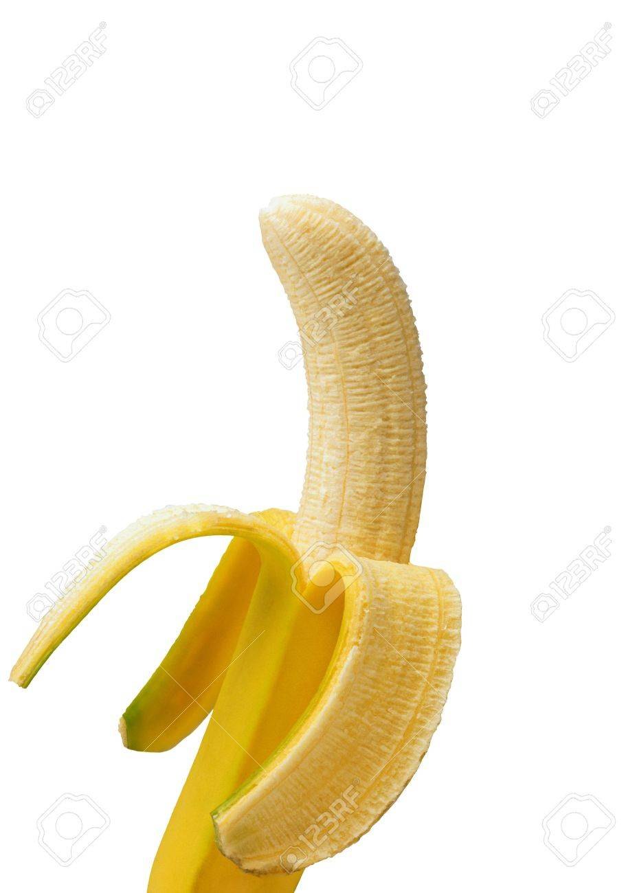 Open banana isolated on a white background - 11948721