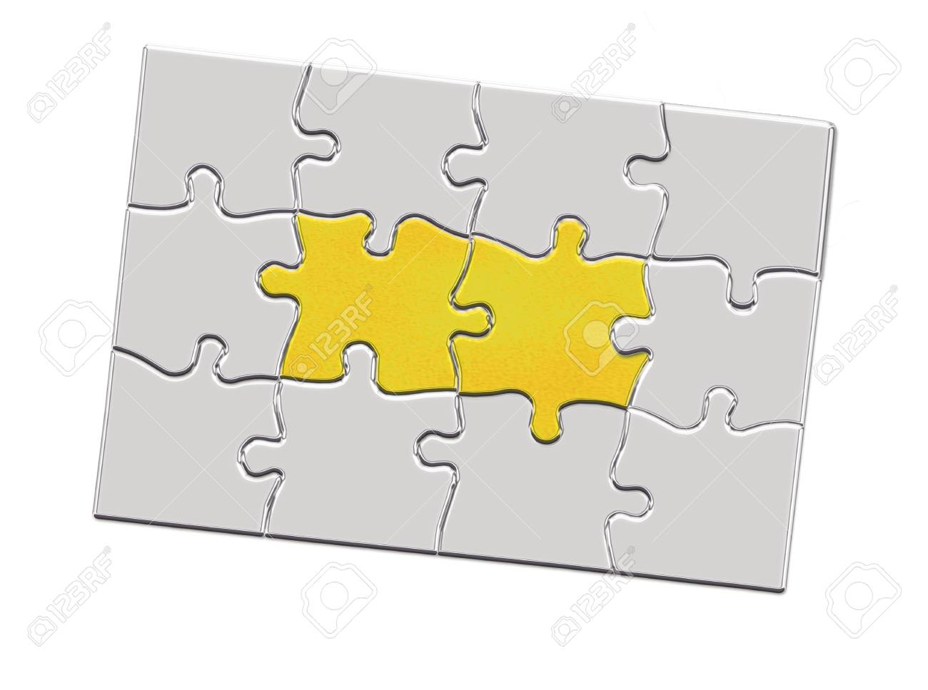 Jigsaw puzzle piece with keyhole Stock Photo - 11948529