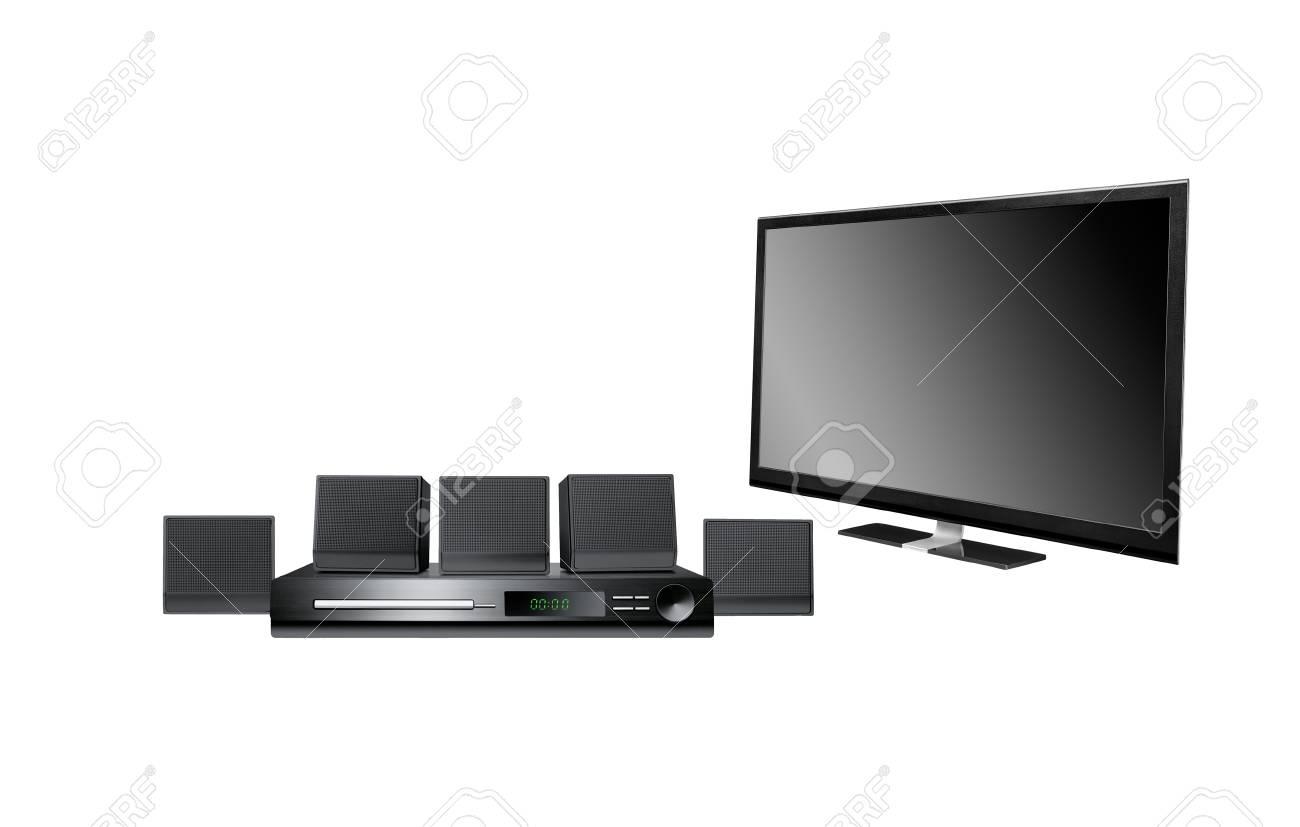 Home-cinema modern isolated on white background Stock Photo - 13173760