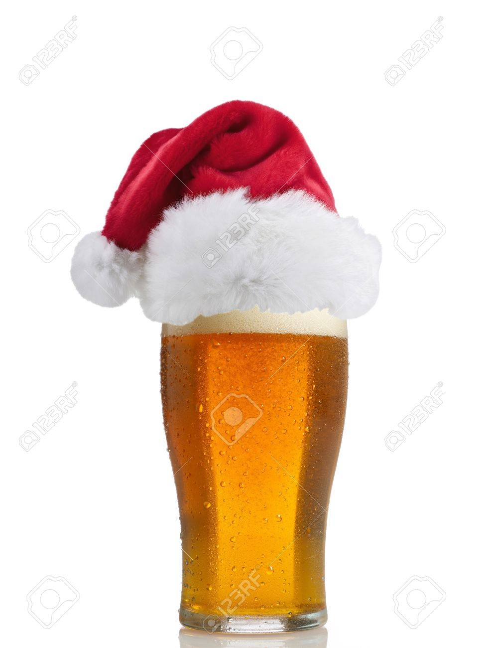630d83ebf7e Santa Claus hat with beer Stock Photo - 14060603