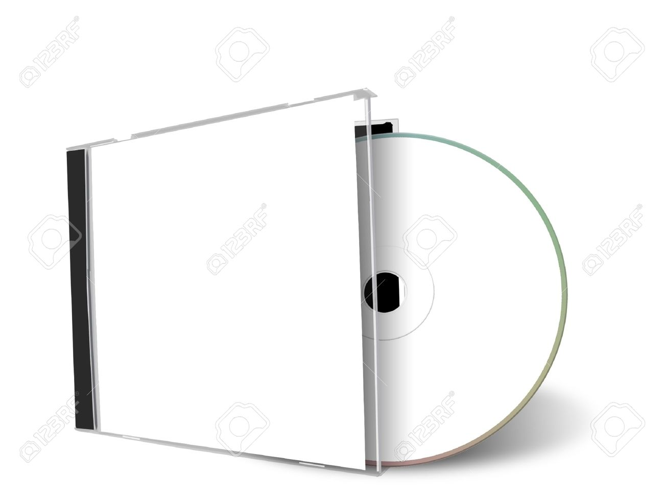 Blank Cd Cover Isolated On A White Background Stock Photo, Picture ...