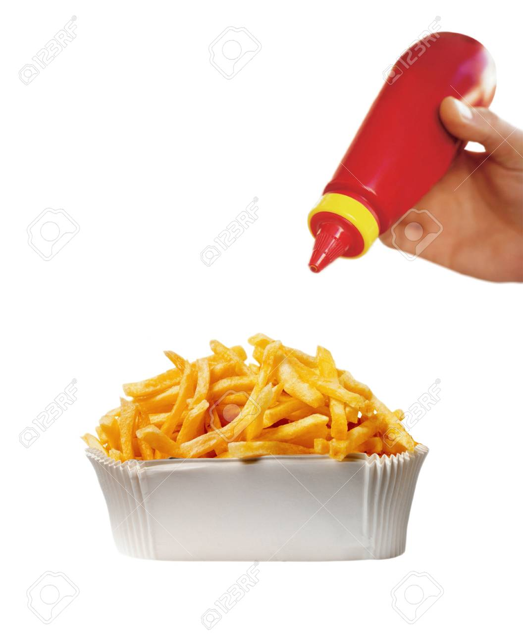 French Fries and ketchup Stock Photo - 14062073