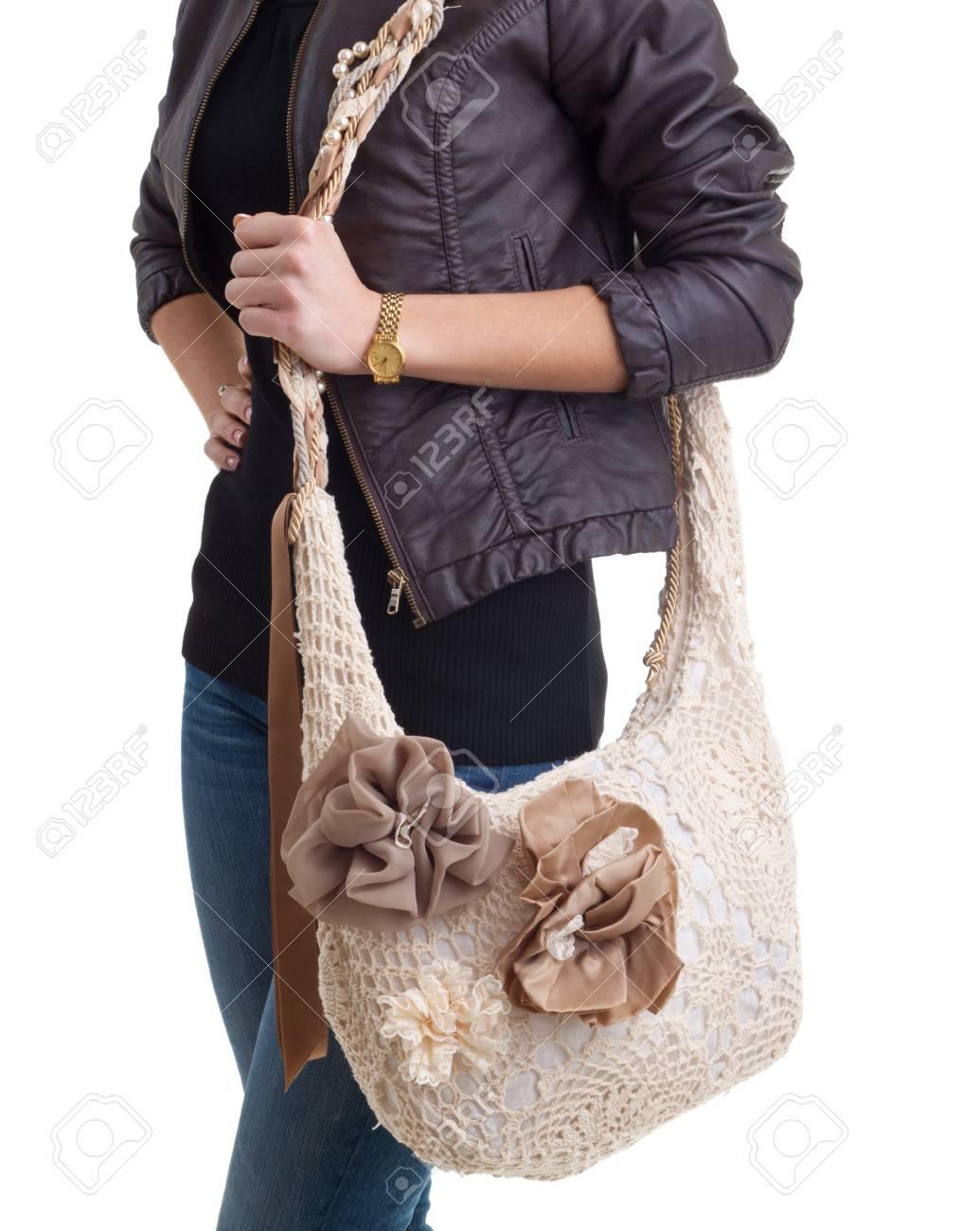 Fashion model with big bag Stock Photo - 14060732