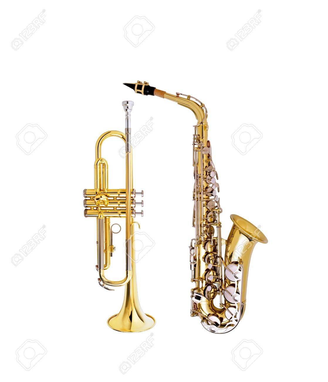 saxophone and cornet Stock Photo - 14086530