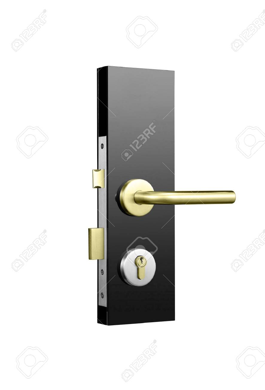 Door lock isolated on white Stock Photo - 14727346