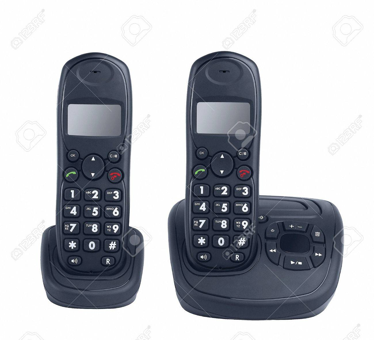 A Modern Cordless Home Phones Stock Photo Picture And Royalty Free