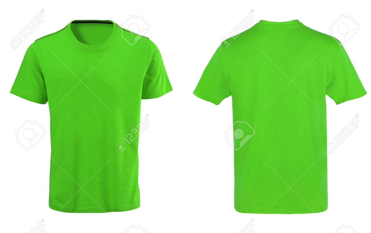 Green T-shirt Isolated On White Background Stock Photo, Picture ...