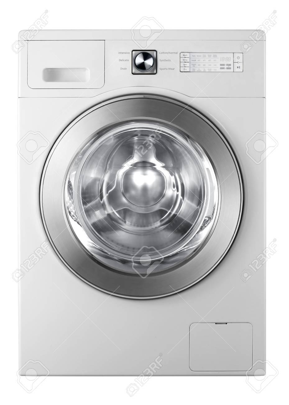 A washing machine isolated on white background Stock Photo - 17908895