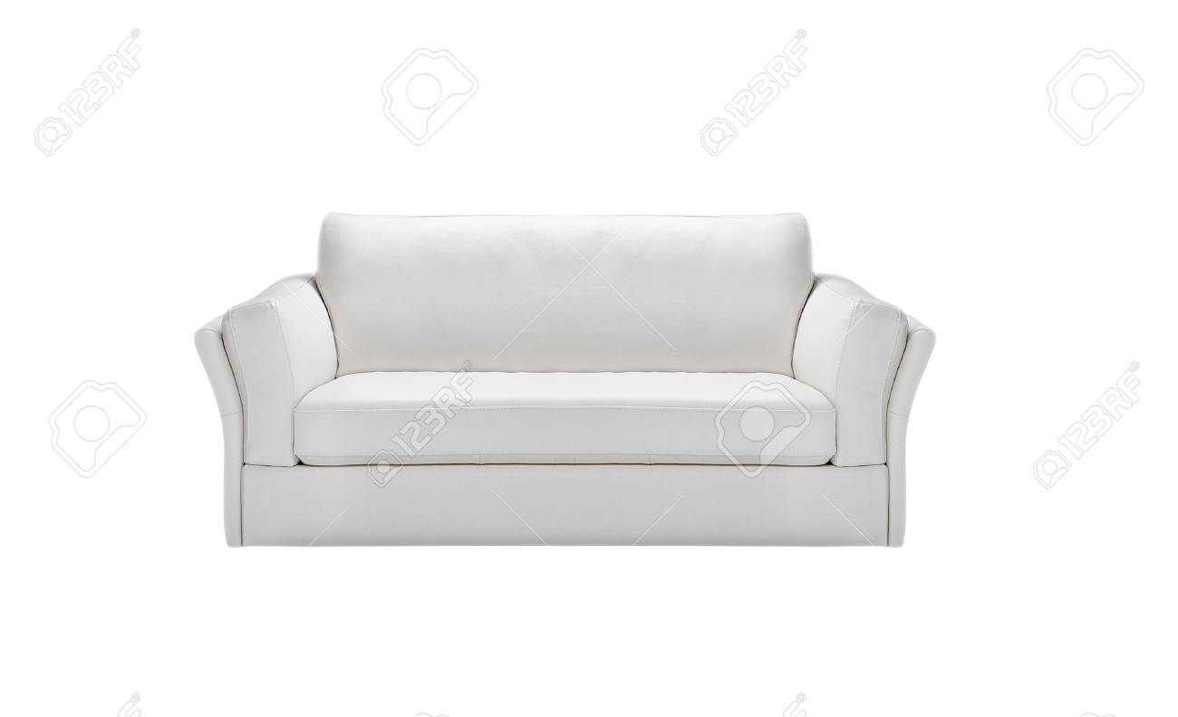 Image of a modern white leather sofa isolated Stock Photo - 21993718
