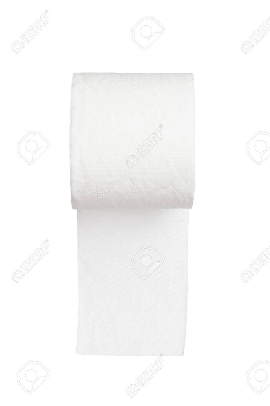 toilet paper on white background Stock Photo - 22184062
