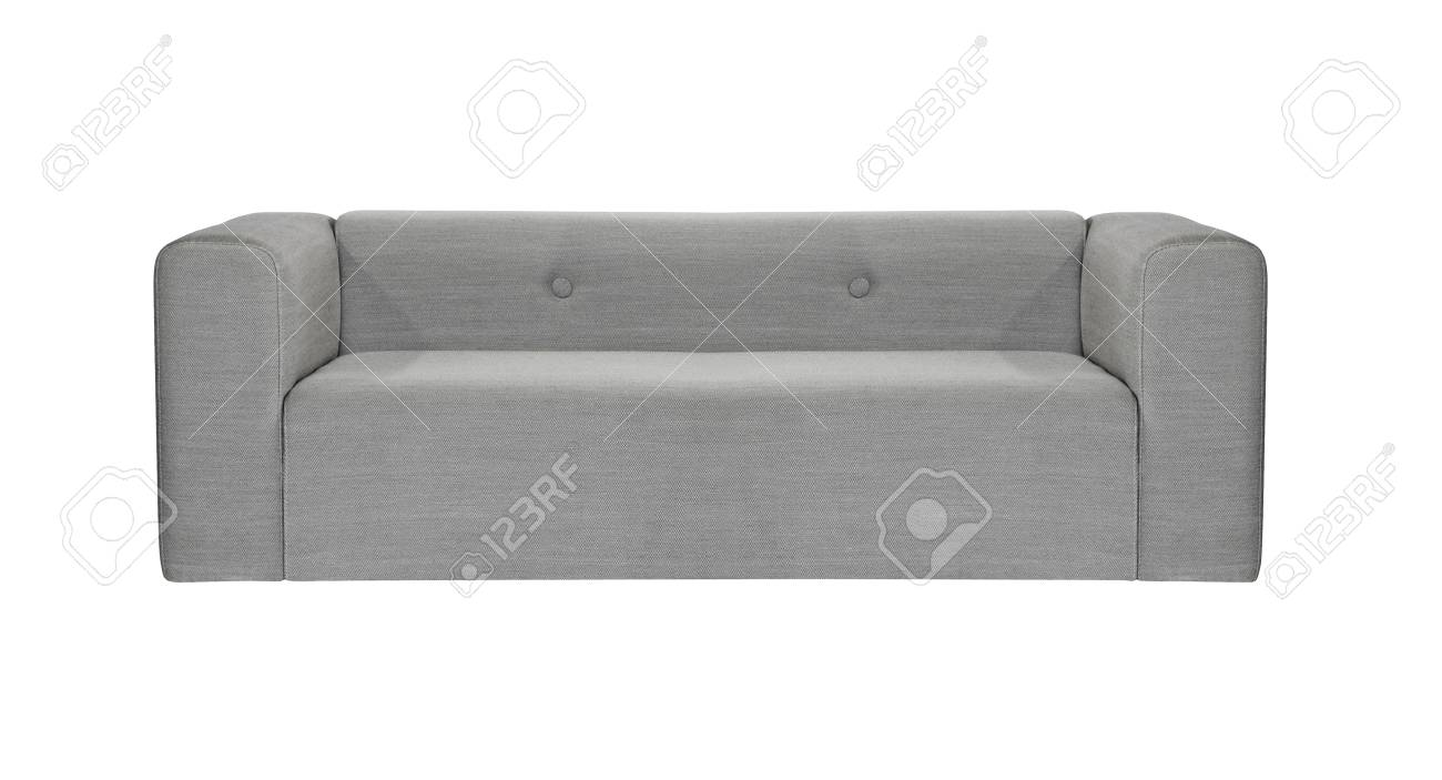 Grey Modern Sofa Isolated Stock Photo, Picture And Royalty Free ...