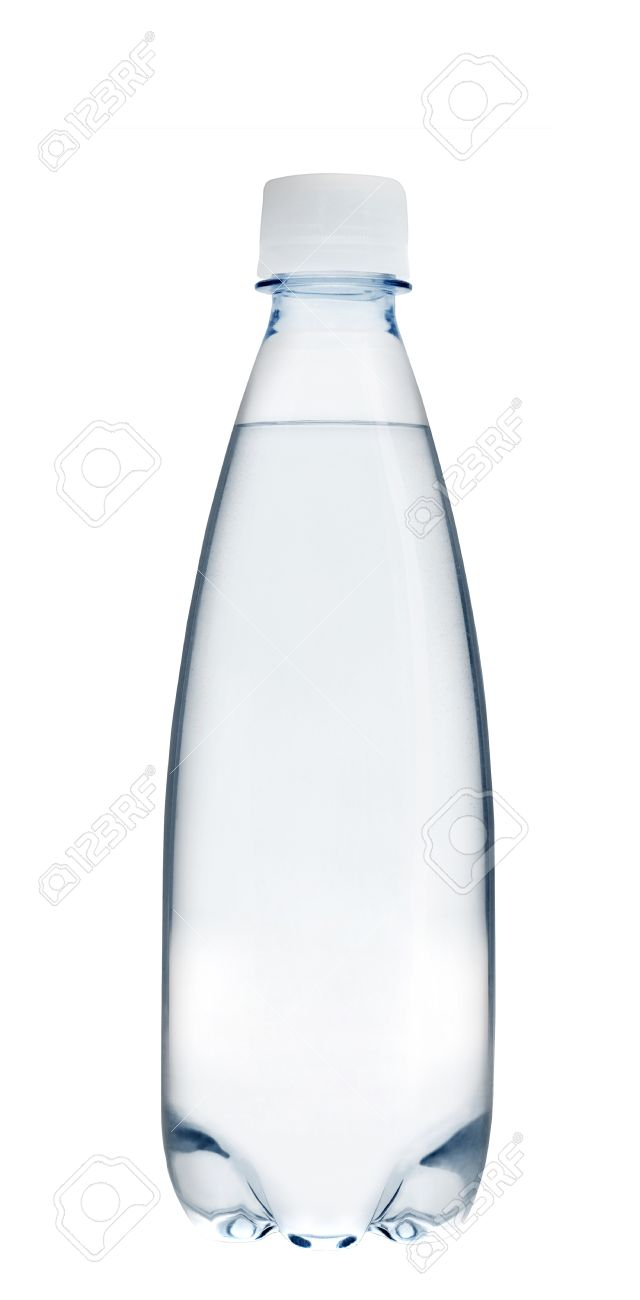 a761bbcab1c Small glass water bottle Stock Photo - 44208599