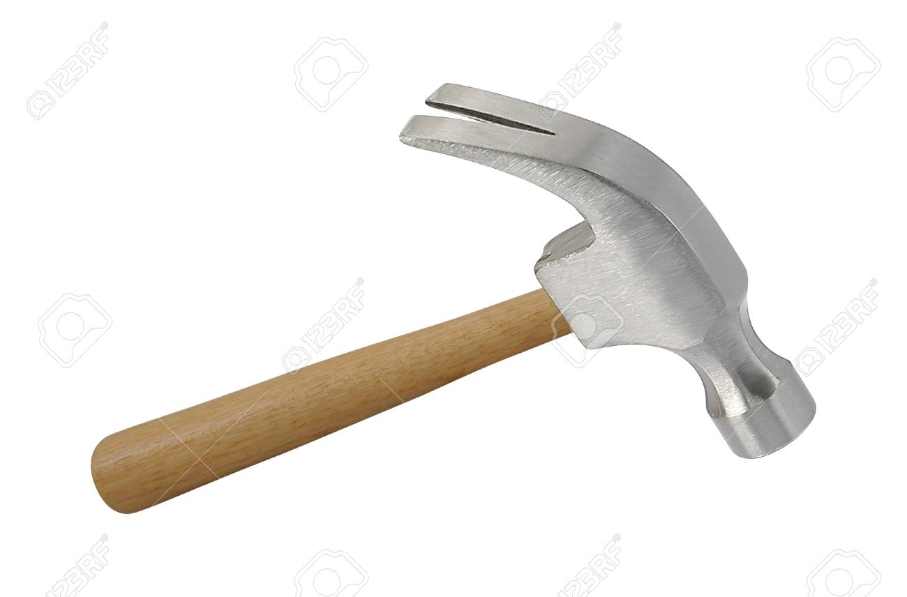 Iron hammer isolated on a white background - 101133082