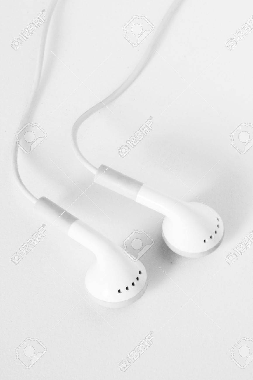 White headphones on a clean white background Stock Photo - 5745249