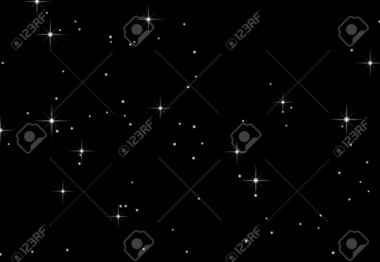 An illustration of stars against a black background Stock Illustration - 5911878