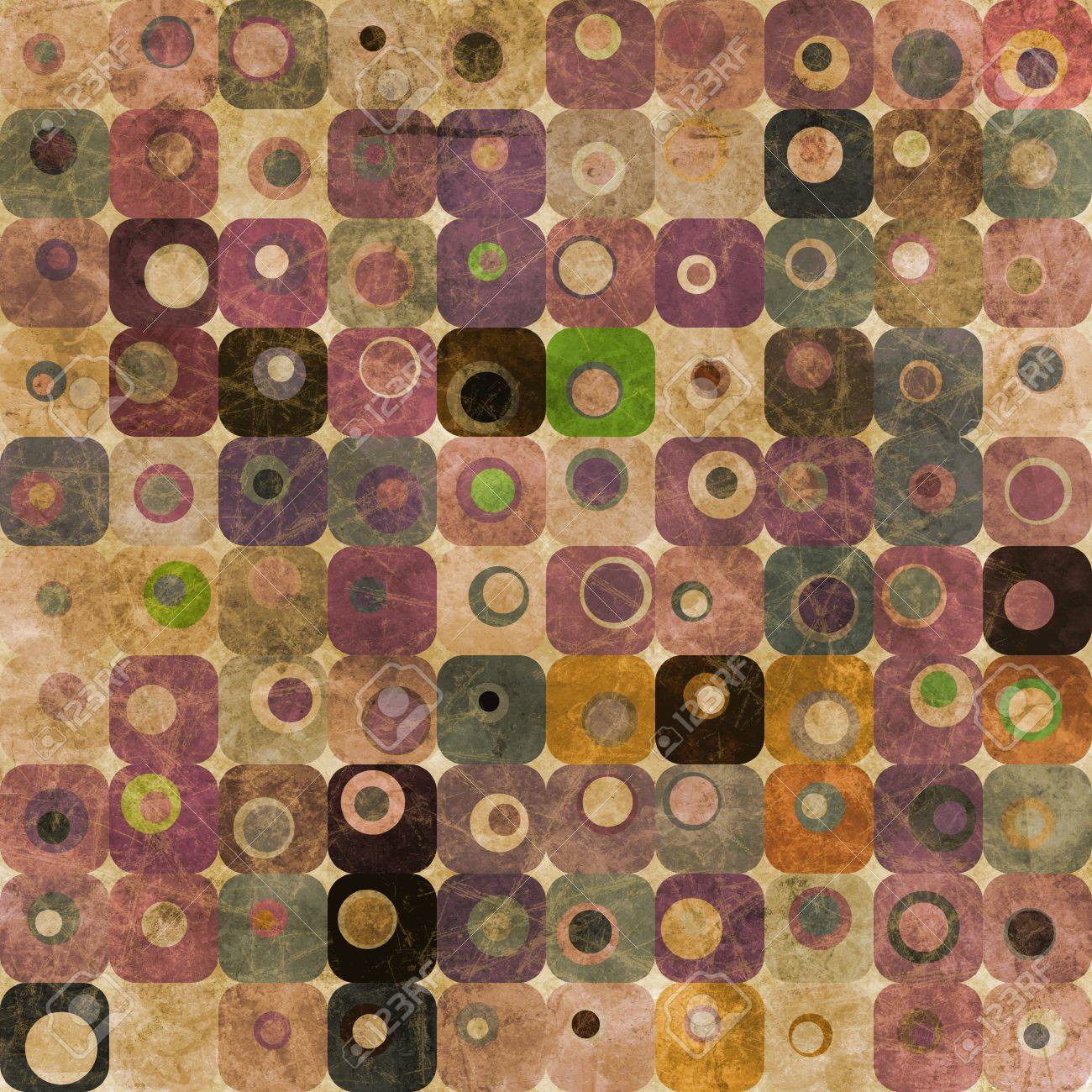 Abstract squares and circles Stock Photo - 9365532