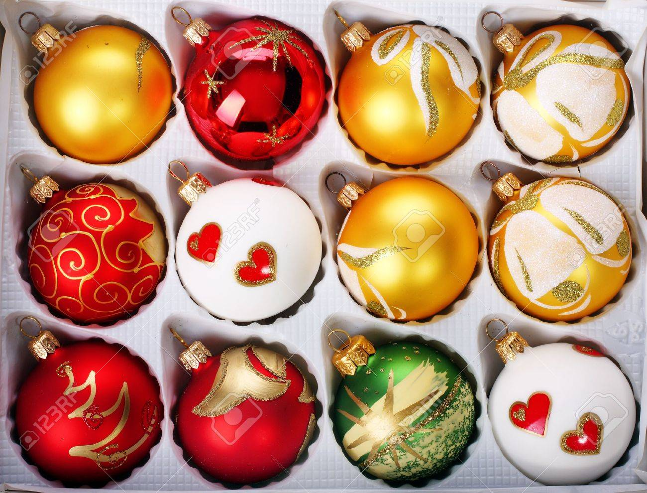 Polish glass ornaments - Stock Photo Delicate Polish Glass Christmas Ornaments