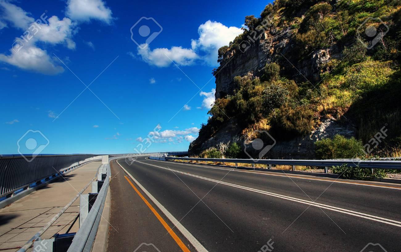 Sea Cliff Bridge along the Grand Pacific Drive Stock Photo - 7979558