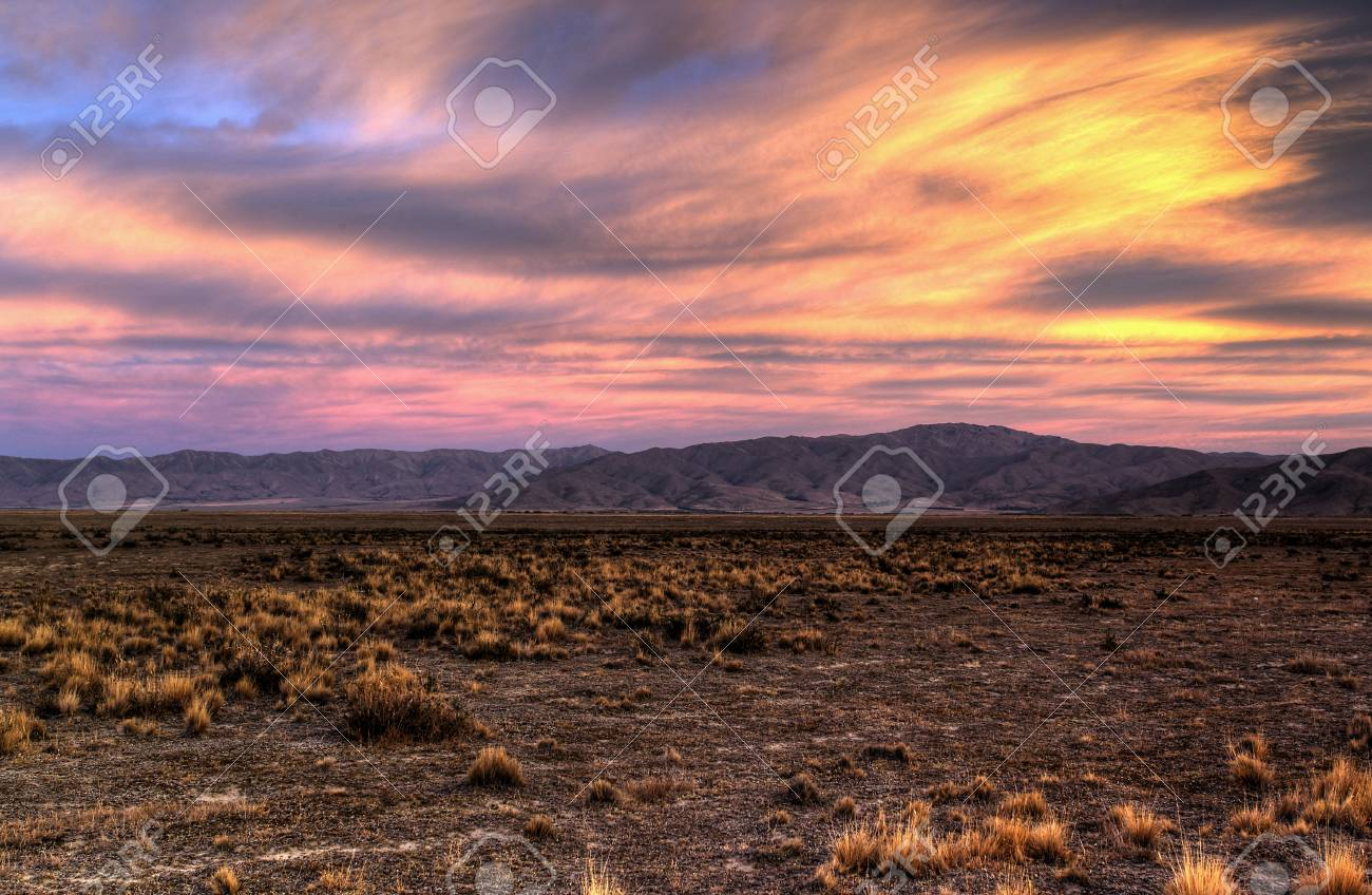 lonely country road landscape in vibrant colors Stock Photo - 9852397