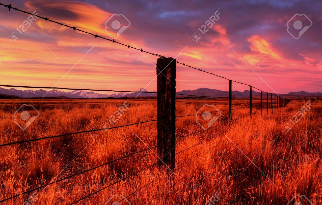 lonely country road landscape in vibrant colors Stock Photo - 9852555