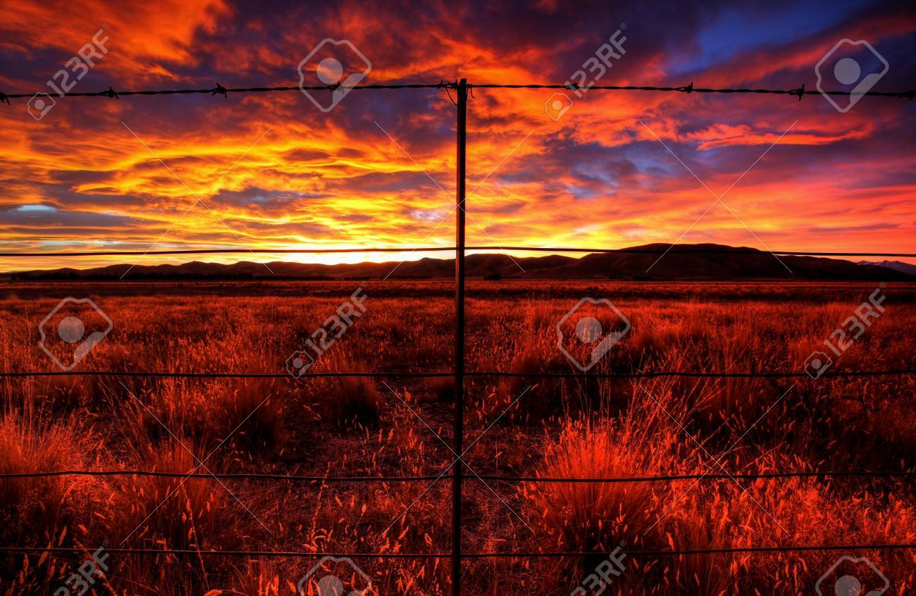lonely country road landscape in vibrant colors Stock Photo - 9852390