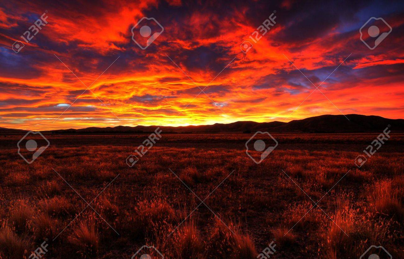 lonely country road landscape in vibrant colors Stock Photo - 9852523