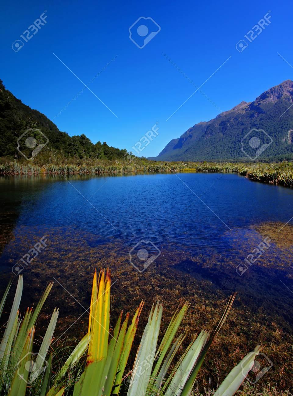 mirror lakes against blue sky Stock Photo - 9852824