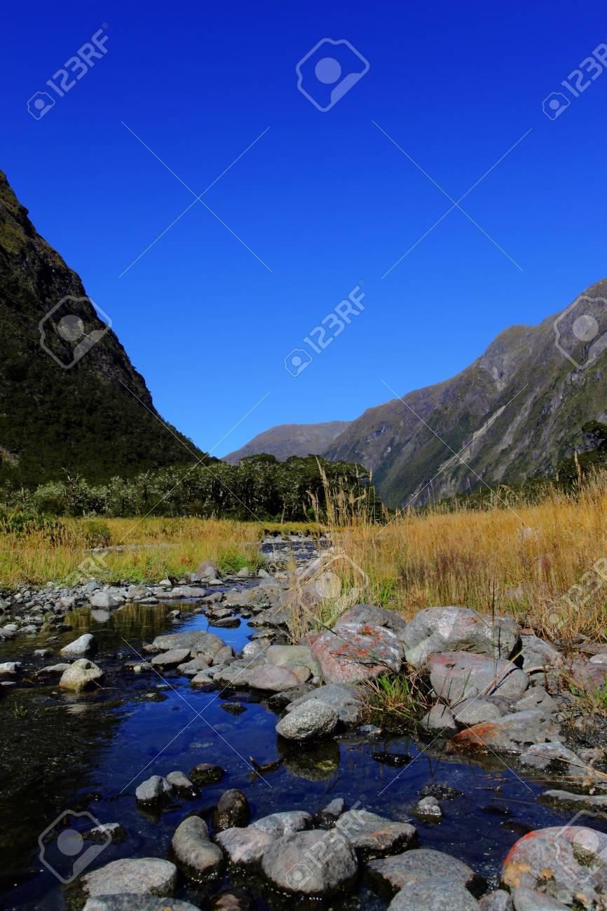 mirror lakes against blue sky Stock Photo - 9852823