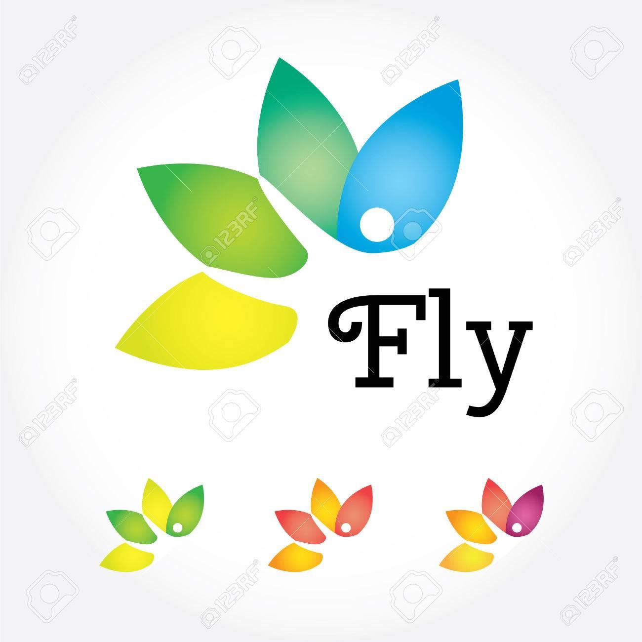 Fly Yoga Zeichen Lotusblüte In Verschiedenen Farben Mit
